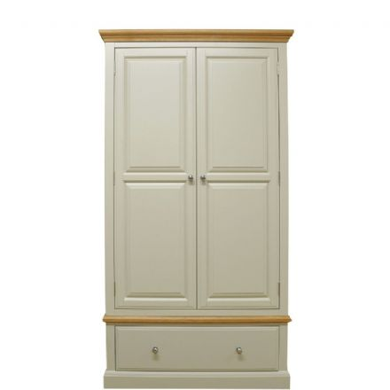 Davenport Painted 2 Door 1 Drawer Wardrobe